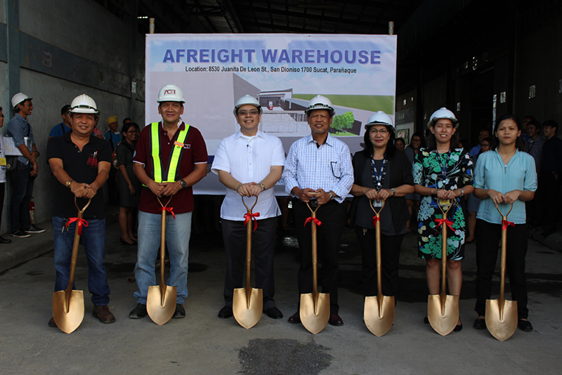 Groundbreaking of New AsiaFreight Warehouse in Parañaque